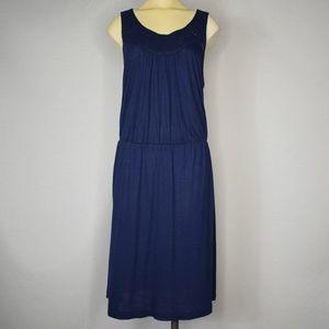 Tommy Bahama | Blue Laced Collar Sheath Dress L